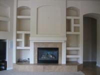 Family Room Fireplace/ Niche wall Before and After