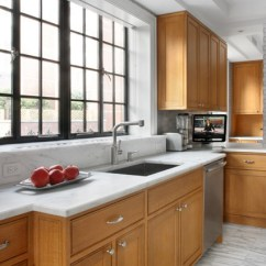 Kitchen Cabinet Ideas For Small Kitchens Compost Container With Cerused Oak Cabinetry And A Recycled Aluminum ...