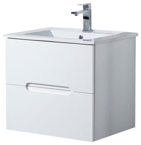 "wall mount bathroom vanity elton 24"" with porcelain sink top"