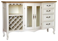 Antique Style White Wine Cabinet - Traditional - Wine And ...