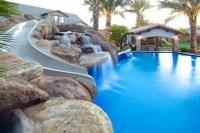 Backyard Oasis - Pool, Spa, Swim-Up Bar, Grotto, Slides ...