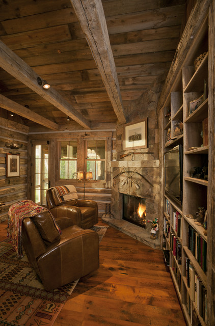 Pioneer Homestead Ranch office  Rustic  Home Office