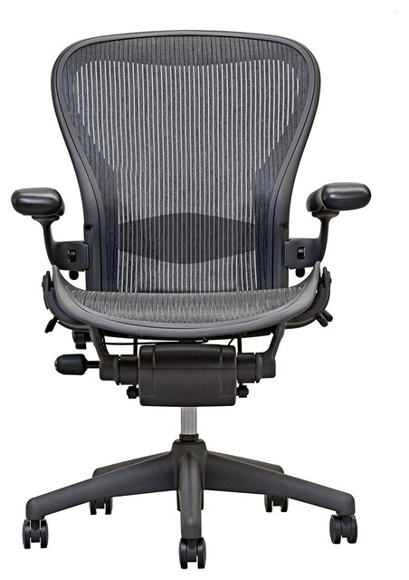 Herman Miller Aeron Chair Size B Fully Loaded Black Mesh