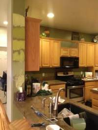 Best Paint Color with Honey Oak Cabinets?