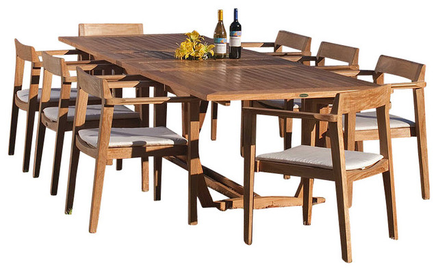 Veranda 9-piece Danish Teak Outdoor Dining Set