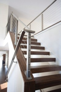 Cable rails & open treads - Contemporary - Staircase ...