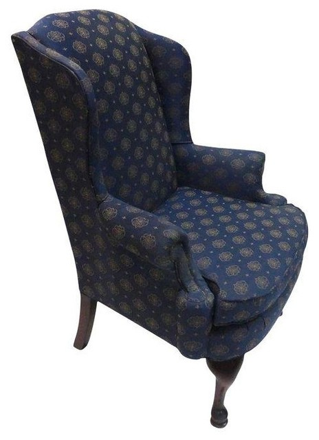 Used Vintage Broyhill Wingback Chair  Traditional
