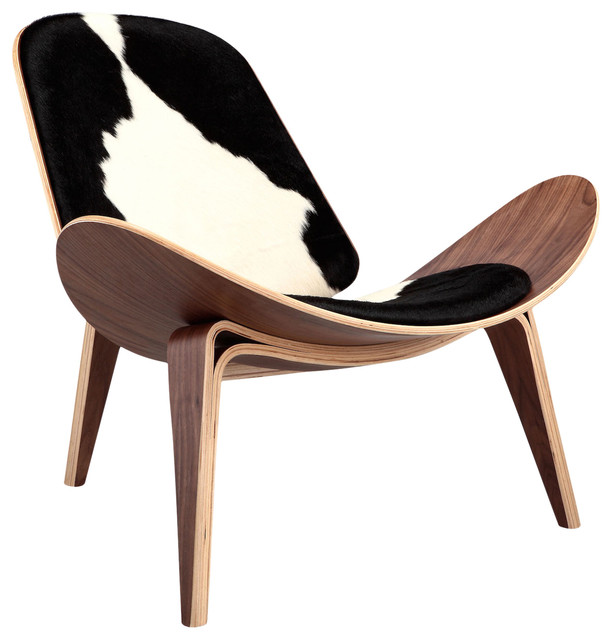 black and white cowhide chair osha requirements tripod plywood lounge genuine with walnut base southwestern armchairs accent chairs by kardiel