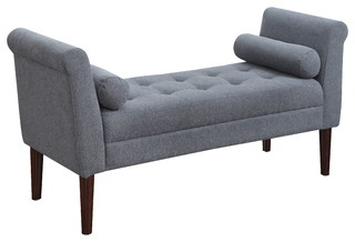 Betty Upholstered Accent Bedroon Bench With Arms