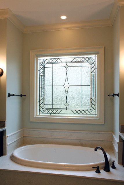Decorative Glass Windows  Traditional  Bathroom