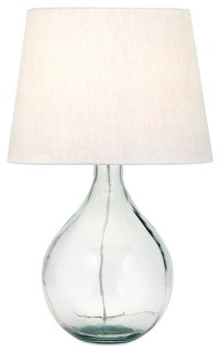Albany Recycled Glass Table Lamp - Contemporary - Table ...