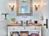 farmhouse-powder-room 10 Things to Enhance Your Powder Room for the Holidays or Anytime Upholstery in Clapham Junction