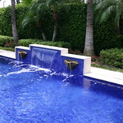 Swivel Tub Chairs Wheel Chair Prices Glass Tile Waterfall - Eclectic Pool Miami By Foreverpools