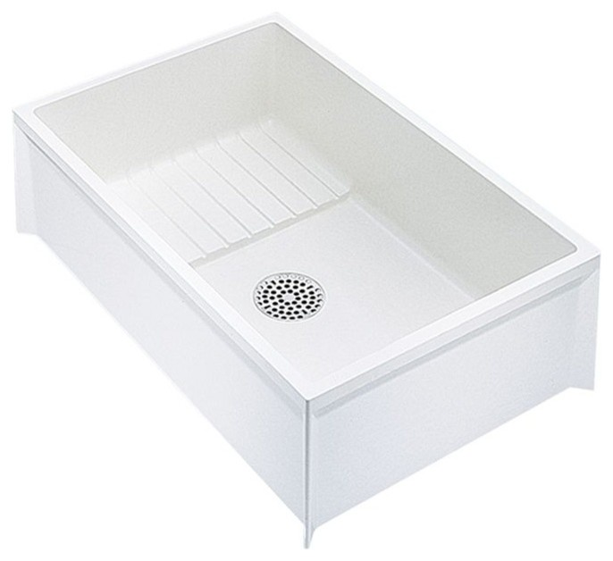 mustee mop service basin 24 x36 x10 white