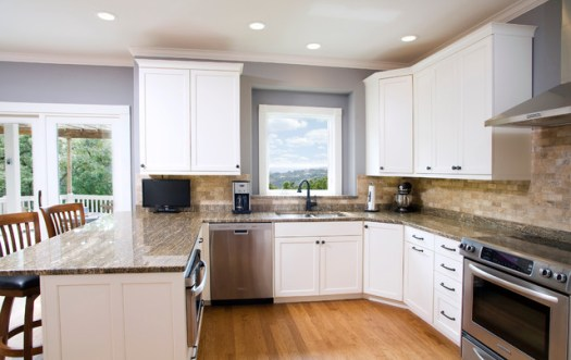 Traditional White Kitchen Mdf Paint