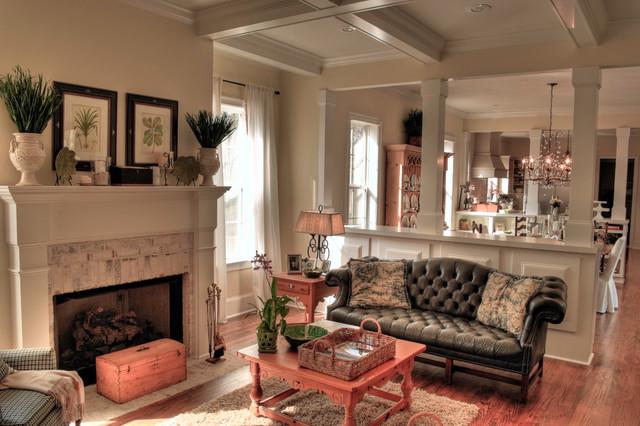 Georgian Inspired Custom Home Traditional Living Room