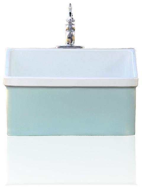Green Blue Vintage Style Kohler Hollister Farm Sink Apron Utility Sink K 12793 0 Craftsman
