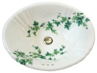 English Ivy Hand Painted Sink - Traditional - Bathroom ...