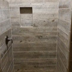 50 Inch Sofas Sectional Sofa Left Side Chaise Barnwood Tile Shower With Pebble Base - Rustic Bathroom ...