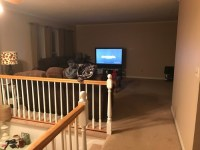 L shape living/dining room furniture layout (raised ranch