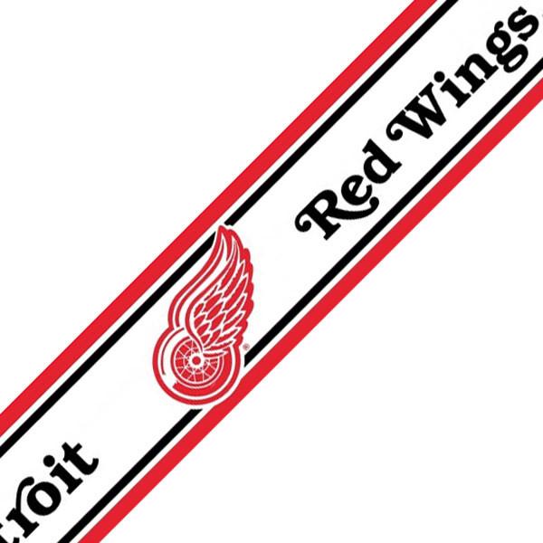 NHL Detroit Red Wings Hockey Prepasted Wallpaper Border