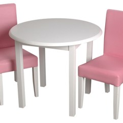 White Upholstered Chairs Comfortable Reading Chair Small Space Gift Mark Childrens Round Table With 2 Pink Contemporary Kids Tables And By Clickhere2shop