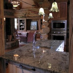 Kitchen Island With Sink For Sale New Kitchens Koselig Log Cabin Interior Photo - Contemporary ...