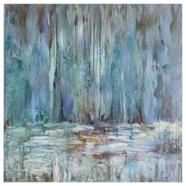 coastal modern blue abstract
