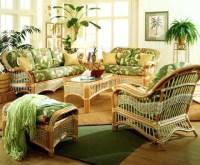6 Pc Indoor Rattan Living Room Set (Corinthian Red ...