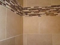 Glass Tile Border - Modern - Bathroom - cleveland - by ...