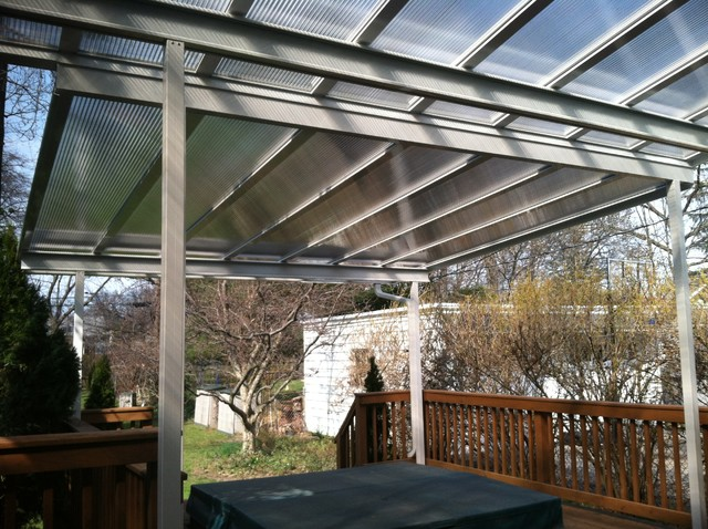 Patio Covers Bronze Translucent Panels  Traditional  Patio  Cleveland  by Bright Covers