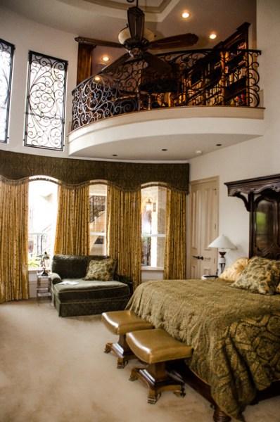mediterranean bedroom design The Master Library - Mediterranean - Bedroom - Dallas - by Kitty Raulston-Thomas Interior Designs