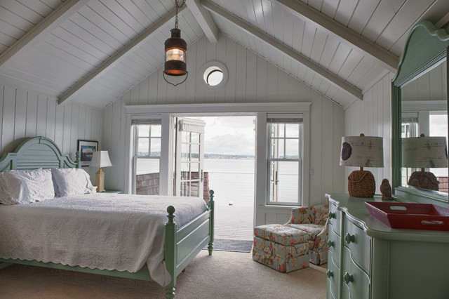 beach cottage - beach style - bedroom - seattle - by sykora home