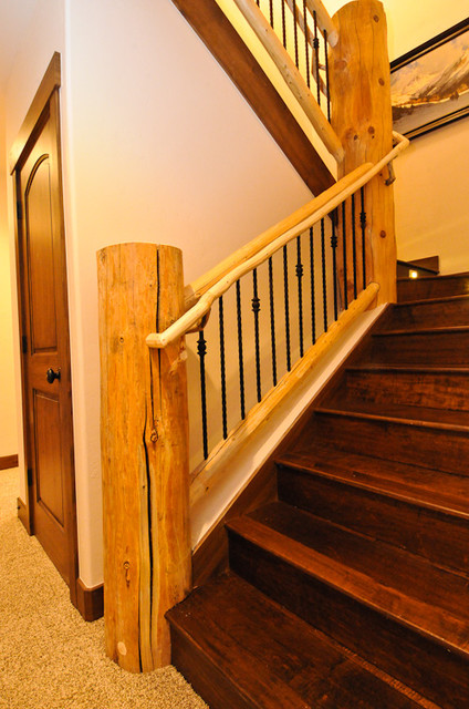Rustic Log Cabin Rustic Staircase Denver By