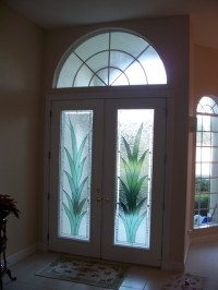 Stained glass inserts for front doors