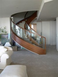 Curved Glass Staircase - Modern - Staircase - San Diego ...