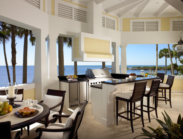 Sophisticated Key West Style Tropical Porch Miami By Pinto