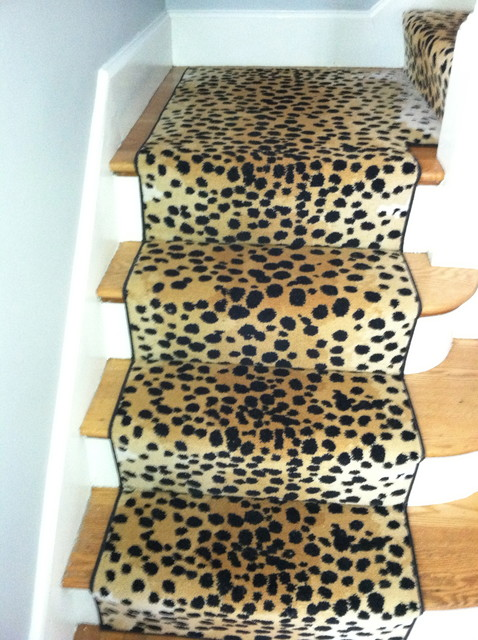 animal print sofas rocking sofa chair stair runner - traditional boston by the ...