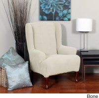 Montgomery One-piece Stretch Wing Chair Slipcover ...