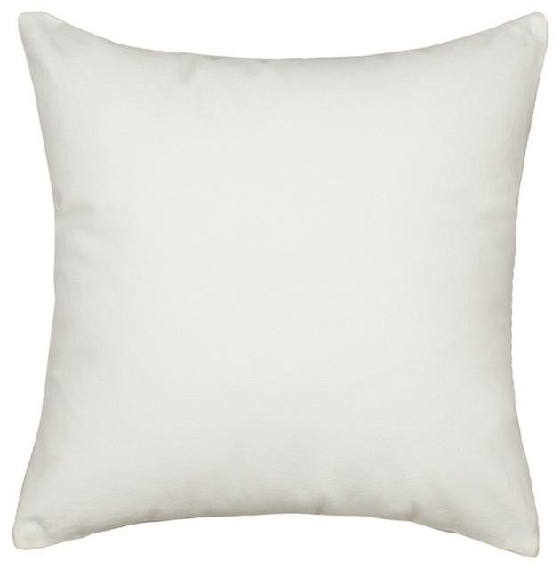 solid white accent throw pillow cover heavy weight fabric 20 x20