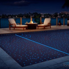 Teak Living Room Furniture Inspiration Brown Couch Starry Night Glass Tile Pool - Modern Miami By ...