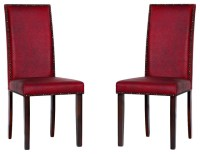 Warehouse of Tiffany 'Blaze' Black/ Red Dining Room Chairs ...