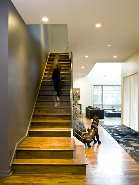 Bucktown Beauty  Modern  Staircase  Chicago  by Cynthia Lynn Photography