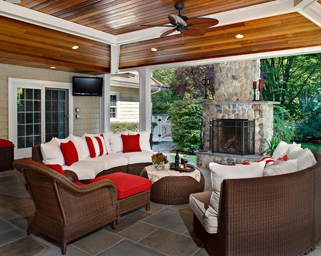 Backyard Beauty  Traditional  Porch  new york  by