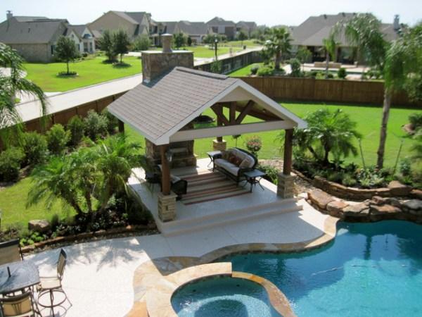 backyard pool landscape - beach
