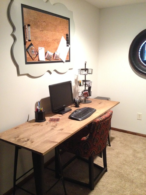 Vintage Industrial DIY Desk  Cork Board