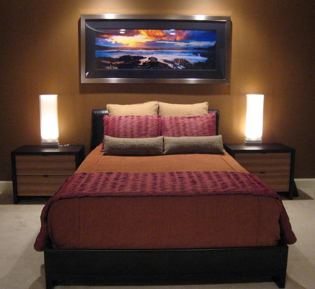 Single Man's Contemporary Bedroom - Contemporary - Bedroom ...