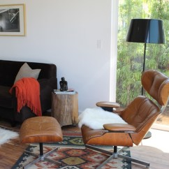 Tree Stump Chairs Beach Chair Rental Eames-era Plycraft Lounge And Kilim Rug - Modern Living Room Los Angeles By Madison ...