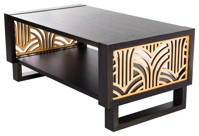 twist modern gray art deco coffee table