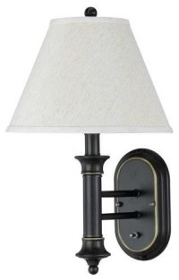 Metal Wall 60W Lamp w Push Plate Switch in Black Bronze ...